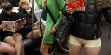 No Pants Subway Ride in New York