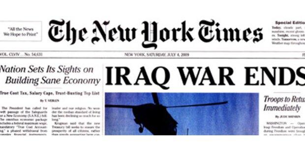 Falsche Zeitung verkündet Ende des Irak-Krieges