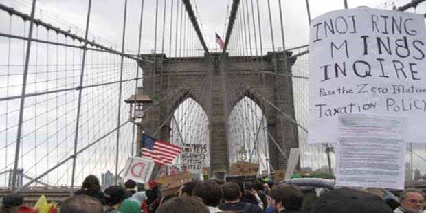 Über 700  Festnahmen bei Demo in NY