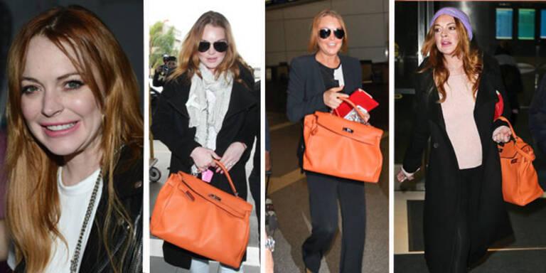 Lindsay Lohan: Jogginghose meets Luxus-Tasche