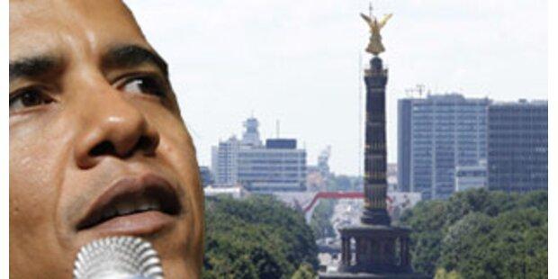 Obama spricht an der Siegessäule