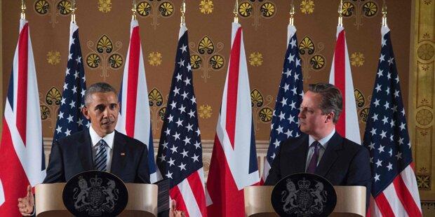Brexit: Obama & Cameron werben für EU-Verbleib