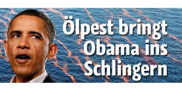 Ölteppich lässt Obama schlingern