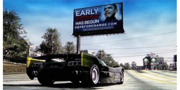 Barack Obama wirbt in Crash-Videospiel