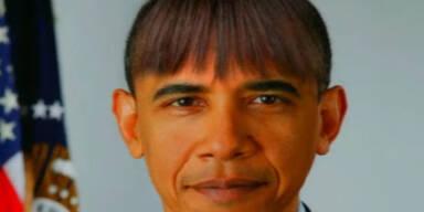 US-Präsident Obama mit Pony-Frisur