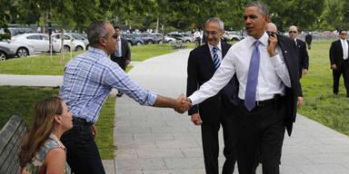 Hier spaziert Obama durch Washington