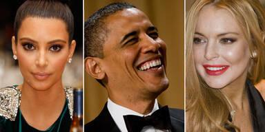 Barack Obama, Lindsay Lohan, Kim Kardashian
