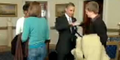 VIDEO: Obama überrascht Touristen