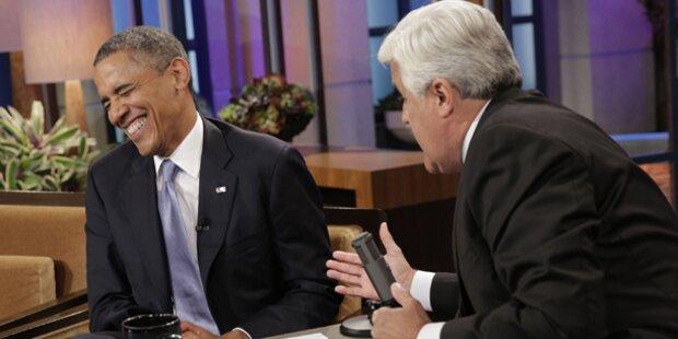 Hier lacht Obama seine Sorgen weg