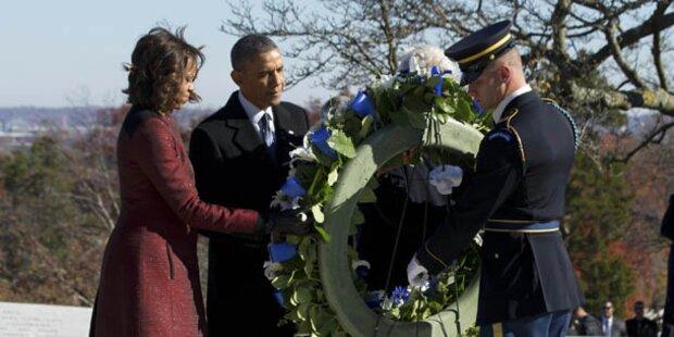 Obama legte Kranz am Kennedy-Grab nieder