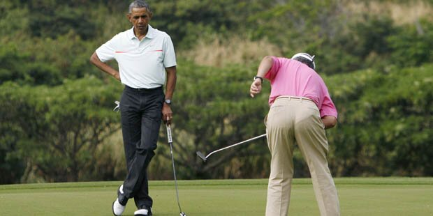 Obama auf Hawaii: Golf zu Weihnachten