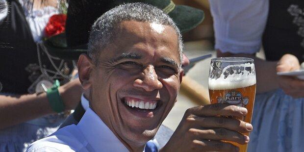 Obama mit Weißbier und Wurst empfangen