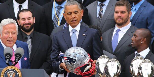 Wirbel: Patriots-Stars wollen lieber zu Obama