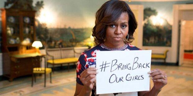 Michelle Obama: Appell an Mädchen-Entführer