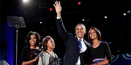 So feierten Barack Obama und seine Anhänger