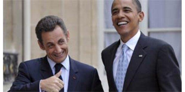 Obama lobt Sarkozy für seine USA-Haltung