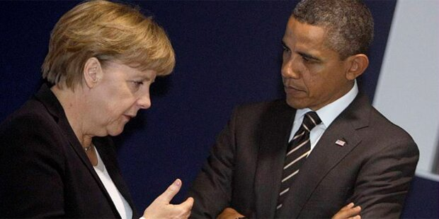 Merkel und Obama fordern Waffenruhe
