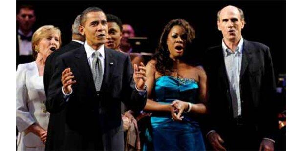Obama sang Geburtstagslied für Kennedy