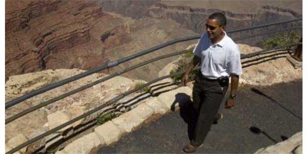 Obamas besuchen Grand Canyon