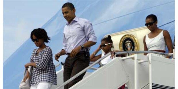 Obama auf Prominenteninsel eingetroffen