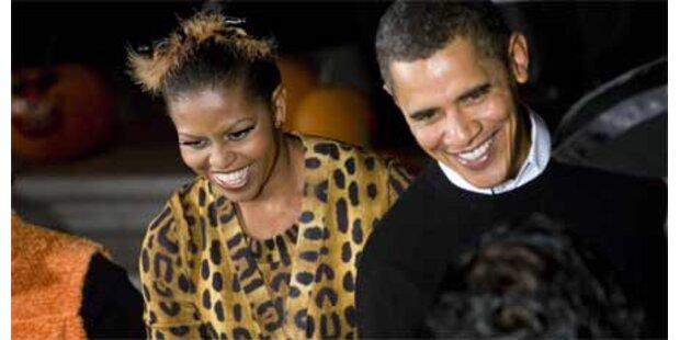 Obamas feiern mit 2.000 Kids Halloween