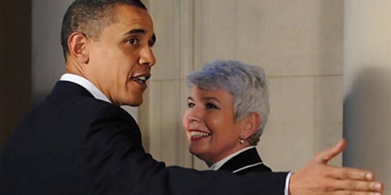 Regierungschefin als Obamas Groupie