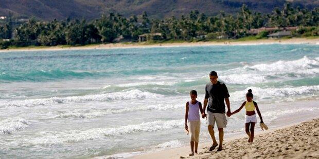 obama mit family zu weihnachten auf hawaii. Black Bedroom Furniture Sets. Home Design Ideas