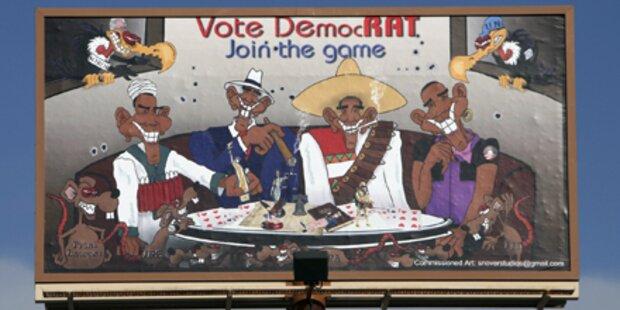 Rassistisches Plakat gegen Obama