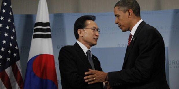 USA sichern Südkorea Militärbeistand zu