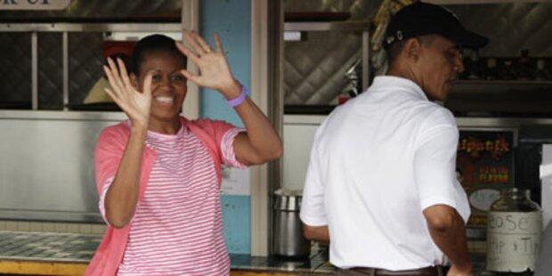 Obamas: Fisch und neue Uhr für Michelle