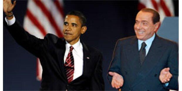 Obama rief Berlusconi nach dessen Fehltritt an