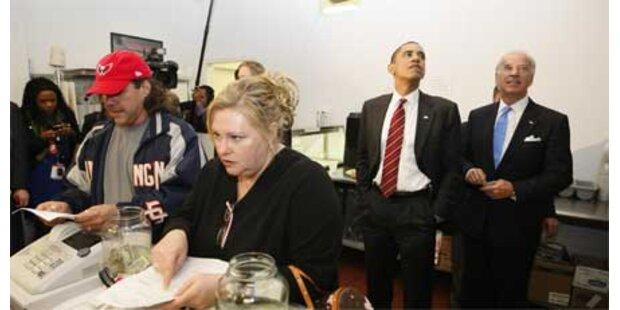 Obama und Biden gingen Burger essen