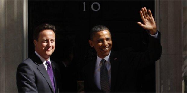 Obama trifft Premier Cameron