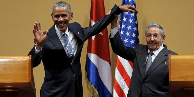 Das schrägste Foto von Obamas Kuba-Reise