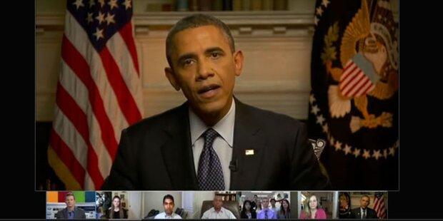 Obama chattete mit Bürgern via Google+