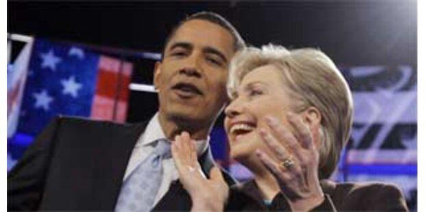 Obama und Clinton liegen Kopf-an-Kopf