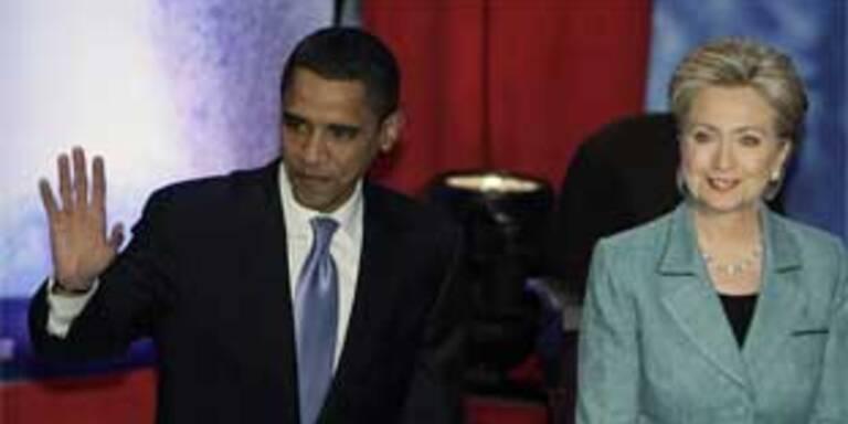Obama und Clinton bei der Debatte in Philadelphia