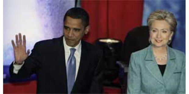Clinton und Obama in TV-Debatte streichelweich