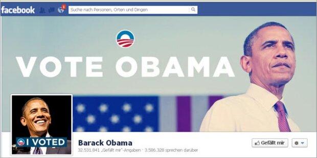 Obama feierte Sieg zuerst im Internet