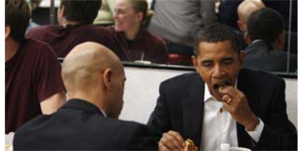 Obama überraschte Gäste in Fast Food-Lokal