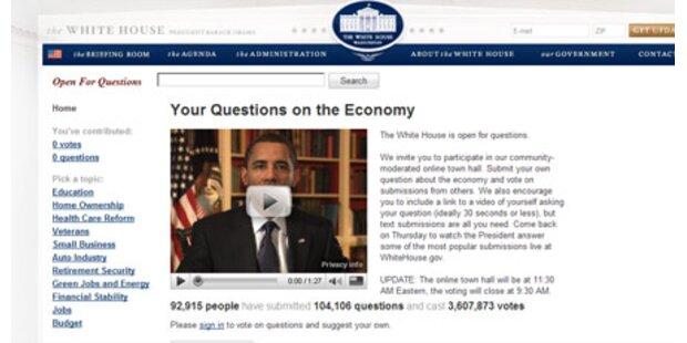 Stellen Sie hier Obama ihre Fragen