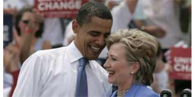 Erster gemeinsamer Auftritt von Obama und Clinton