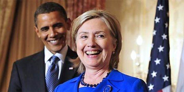 Hillary Clinton als neue Vizepräsidentin