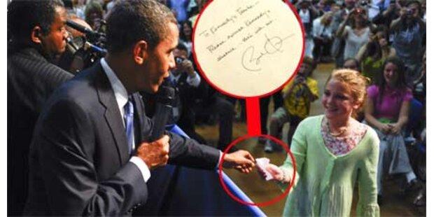 Obama entschuldigte Schulschwänzerin