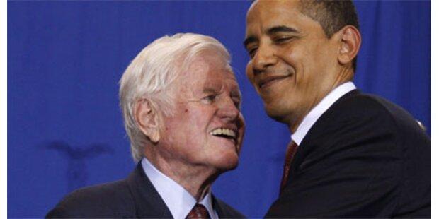 Obama hält Trauerrede für Kennedy