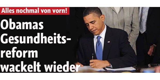 Obama muss Reform nochmal signieren