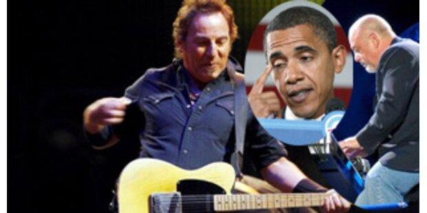 Springsteen und Billy Joel rocken für Obama