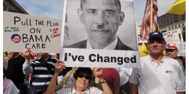 Konservative protestieren gegen Obama