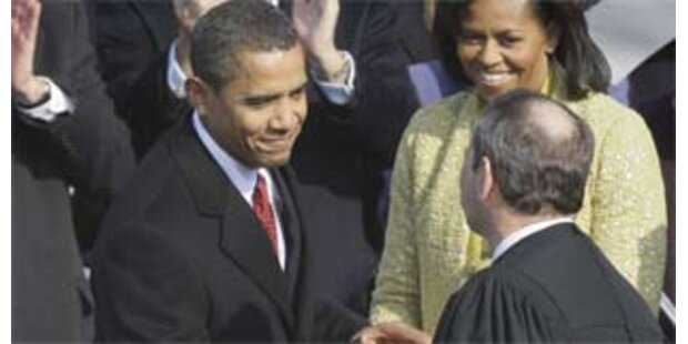 Peinliche Panne bei Obamas Vereidigung