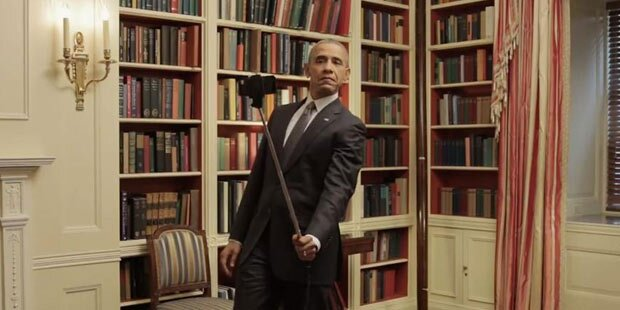 Obama begeistert mit Selfie-Stick